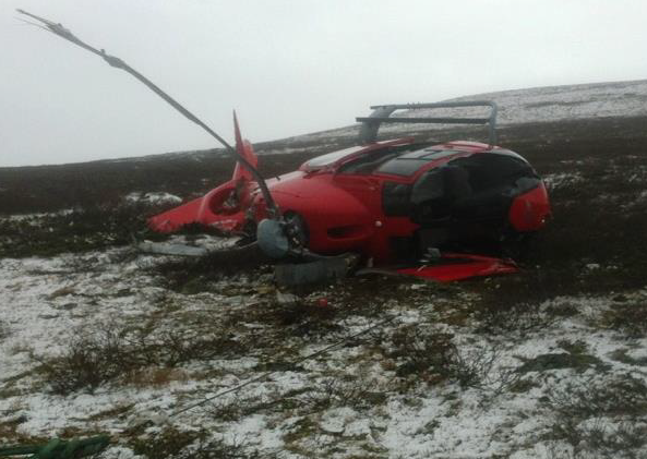 Wreckage of Ec120 SE-JHH (Credit: SHK)