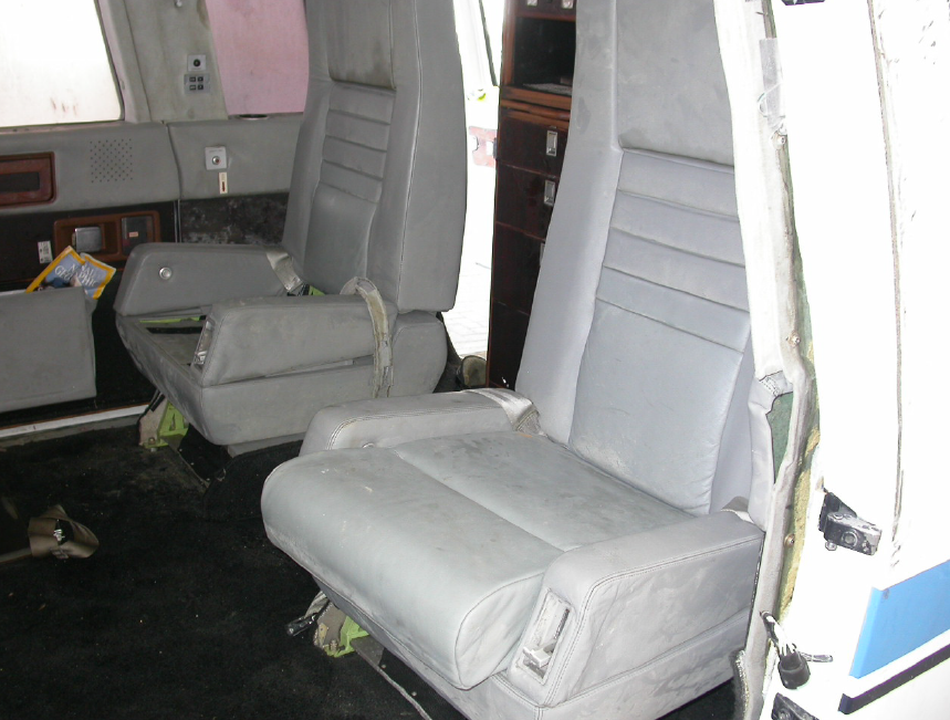 Front (Rear Facing) Cabin Seats (Credit: NTSB)