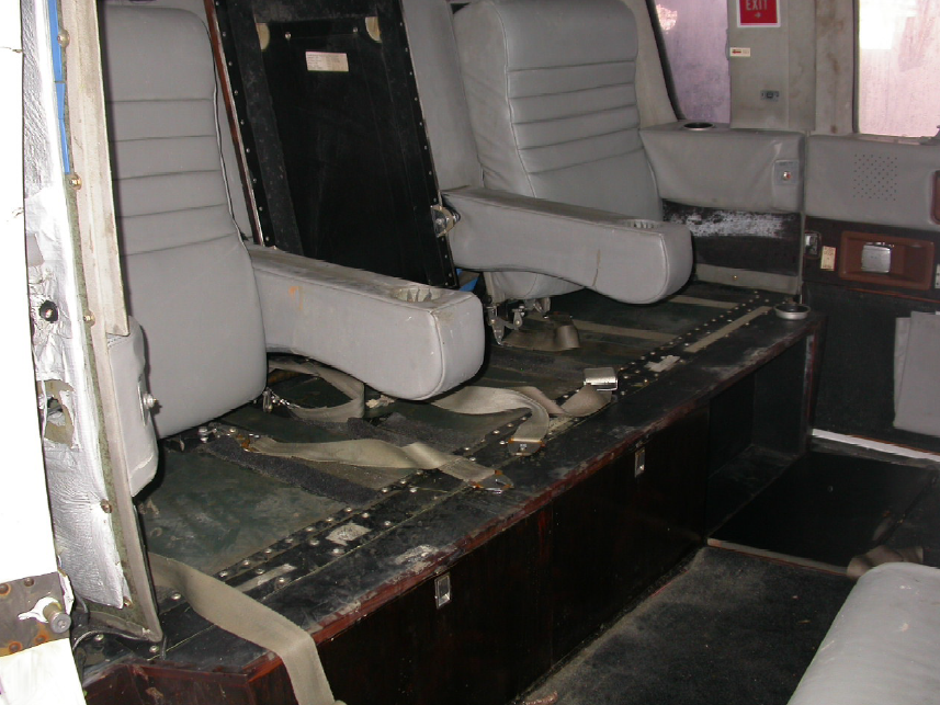 Rear (Front Facing) Cabin Seats (Credit: NTSB)