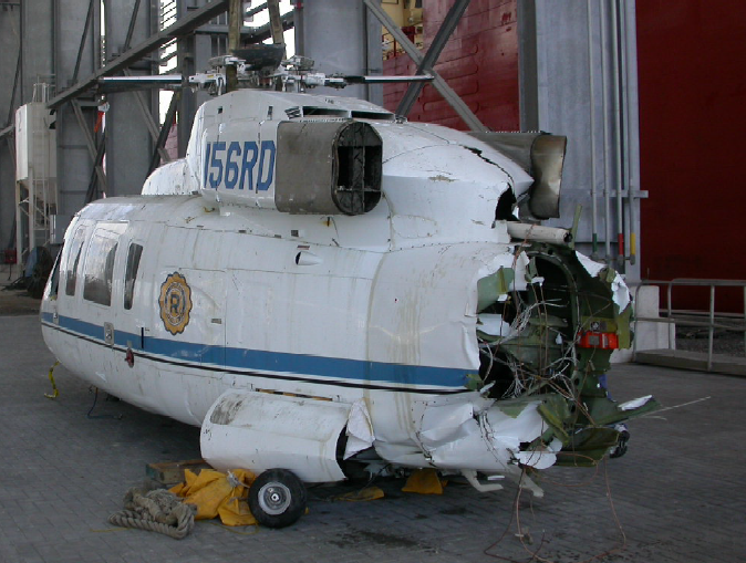 Rear View of Wreckage After Recovery (Credit: NTSB)