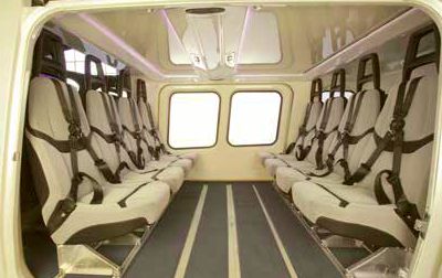 AW169 Offshore Cabin Configuration (Credit: AgustaWestland)