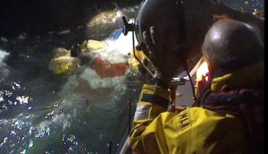 Lifeboats Search for Survivors of G-WNSB (Credit: RNLI)