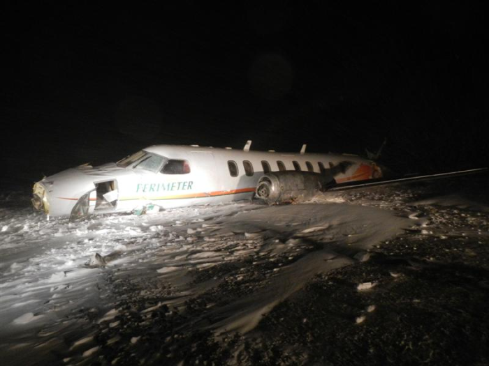Wreckage of  C-GFWX (Credit: TSB)