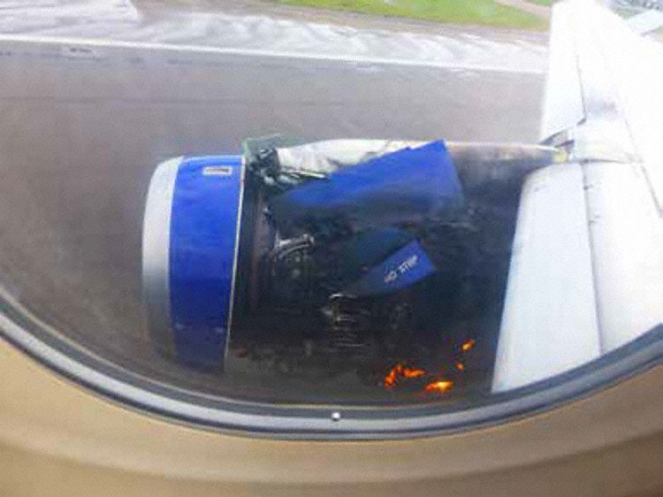 G-EUOE No 2 Engine Fire (Credit: via AAIB)