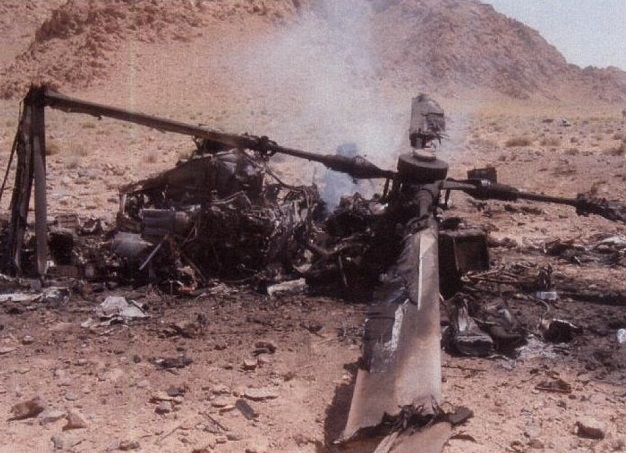 Wreckage of Lynx AH9A ZF540 (Credit: MAA)