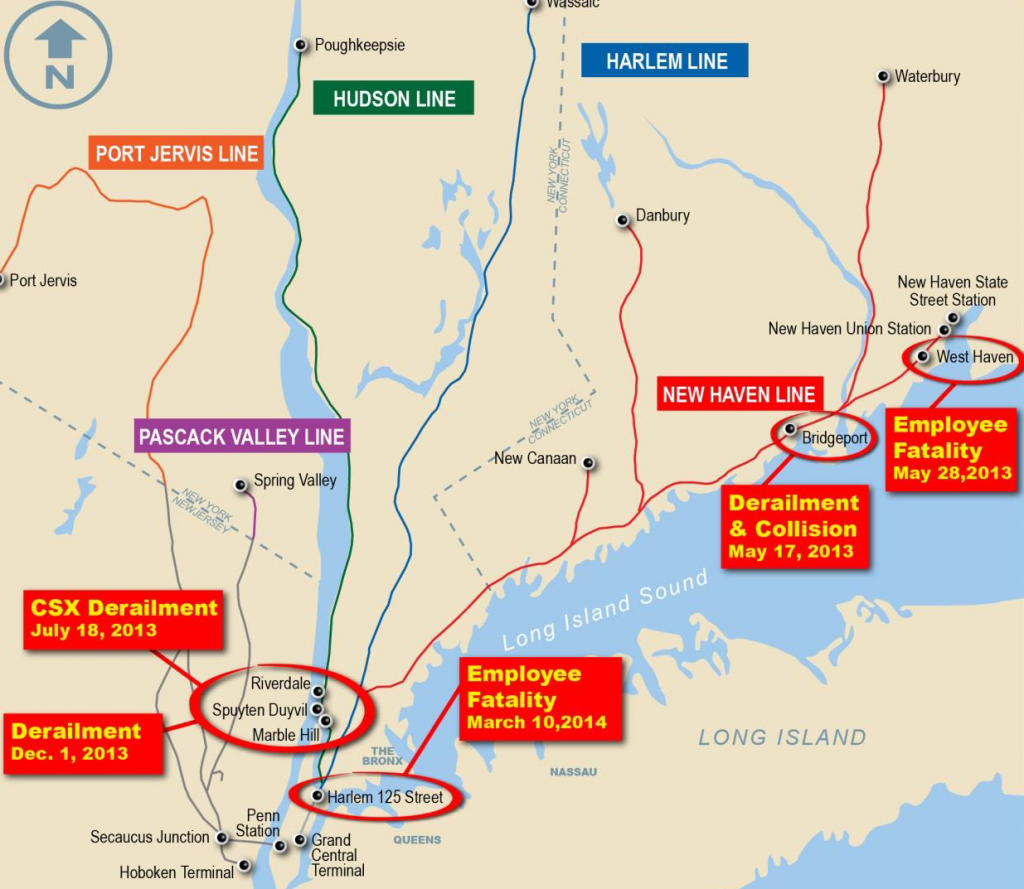 Metro-North Accidents (Credit: NTSB)