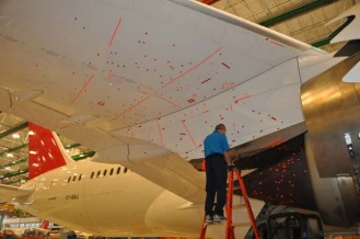 Impact Damage on Wing Marked With red Tape (Credit: NTSB Public Docket)