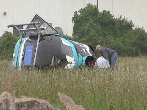 Metro Aviation EC135 N911KB Accident Site (Credit: via WFAB)