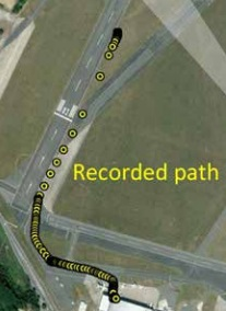 Recorded Track - Note teh ORP discussed below (Credit: AAIB)