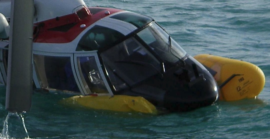 ICG SA365N TF-SIN Afloat But With Damaged Right Float (Credit: via RNL)
