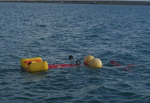 ICG SA365N TF-SIN Capsized (Credit: via RNL)