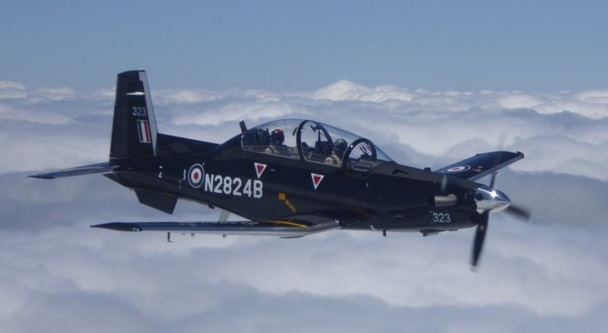 First Beechcraft T-6C Texan  II In Flight in the US (Credit: Affinity)
