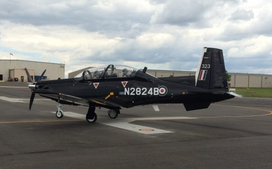First Beechcraft T-6C Texan  II After its First Flight in the US (Credit: Affinity)