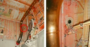 Missing Purge Door (Panel, O-ring and Bolts Found Hanging in Plastic Bag (Credit: AAIB)