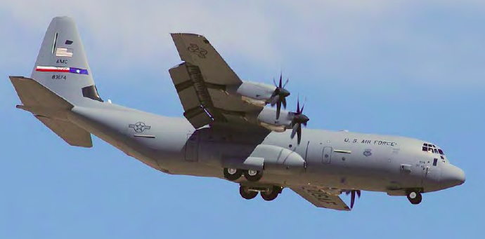 USAF AMC Lockheed Martin C-130J 08-3174 on a Prior Flight (Credit: USAF)