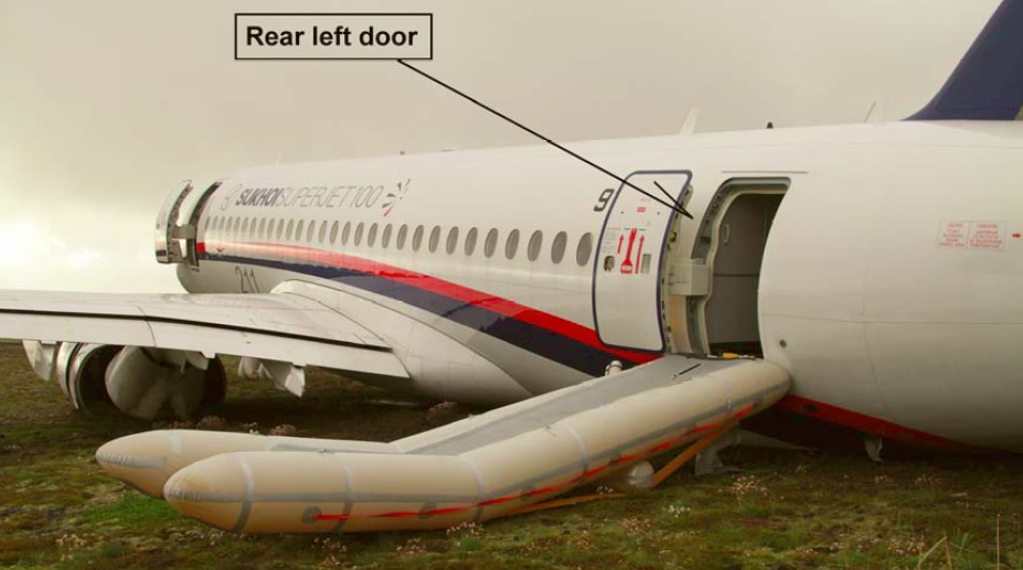 Sukhoi RRJ-95B 97005 Rear Slide (Credit: RNSA)