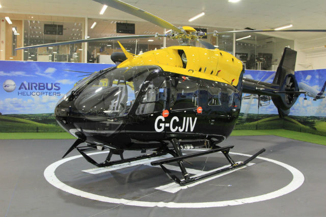 First UKMFTS H145 G-CJIV at AH UK Oxford (Credit: Airbus Helicopters)