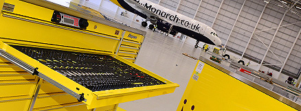 Snap On Tool Control at Monarch Aircraft Engineering Limited Birmingham (Credit: MAEL)