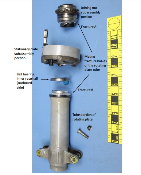 AS350B2 N814EH Tail Rotor Rotating and Stationary Plate Assembly (Credit: NTSB)