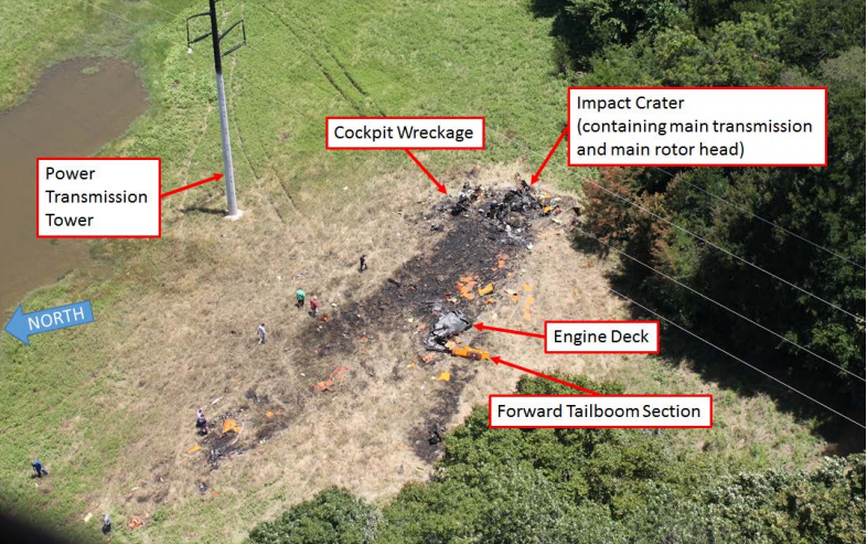 B525 FTV1 N525TA Accident Site (Credit: NTSB)