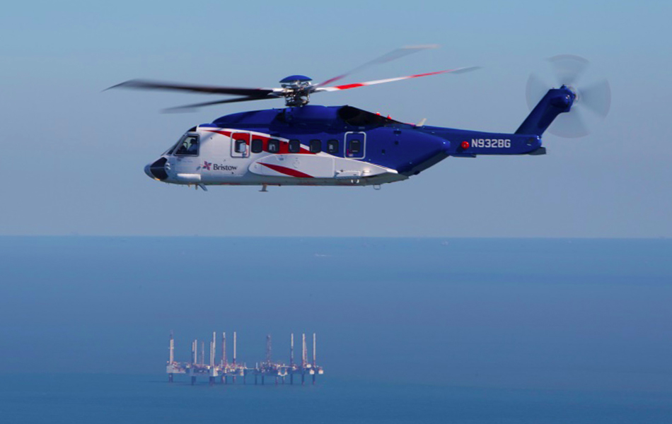 Bristow Sikorsky S-92A in the GOM (Credit: Lockheed Martin)