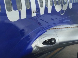 Fuselage Damage N766SW (Credit Peter Lemme)
