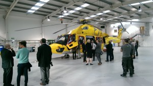 Visitors Seeing One of the NHV Airbus Helicopters H175s (Credit: Aerossurance)