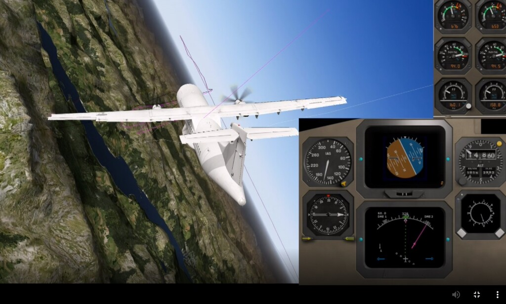 Animation of Jet Time OY-JZC ATR 72-212A Icing Related LOC-I (Credit: NSIA)