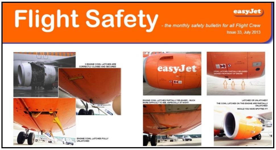 EasyJet safety promotion material