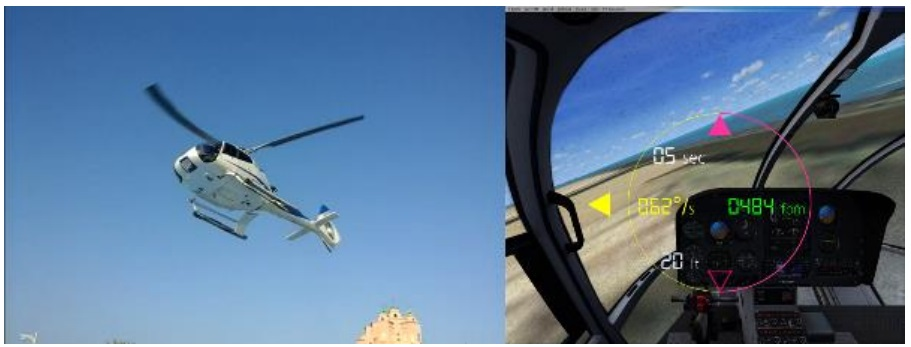 The Aircraft was in a developed left hand pedal turn/Yaw to the left, while gaining height (Credit: GCAA)