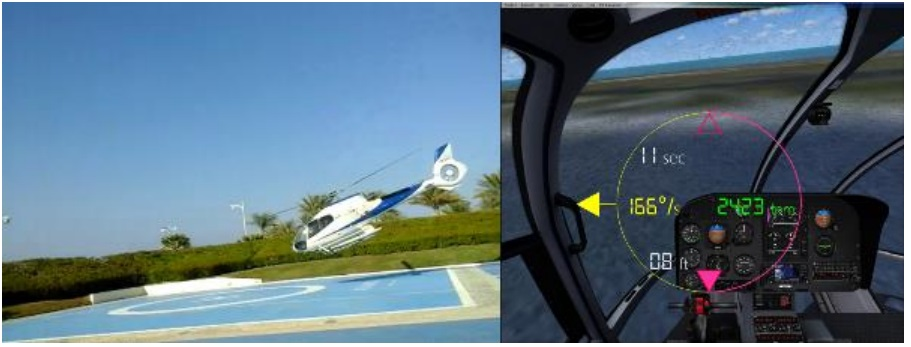 The dynamic condition of the Aircraft  immediately prior to the heliport impact was the following: Rate of Descent = 2423 feet per minute, Rate of Rotation = 166º per second (Credit: GCAA)