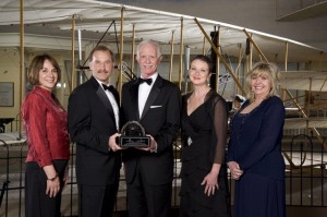 Crew of US Airways Flight 1549: Chesley B. Sullenberger III, Jeffrey B. Skiles, Sheila Dail, Donna Dent and Doreen Welsh (Credit: Smithsonian Institute)