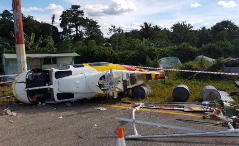 Wreckage of Niugini Helicopters B407 P2-HSE (Credit: PNG AIC)