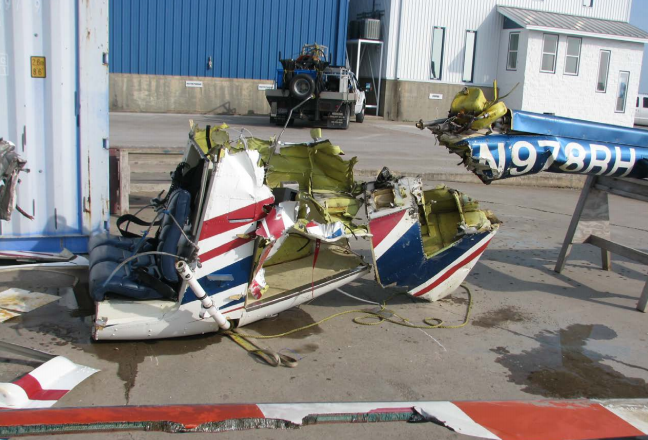 Wreckage of Republic Helicopters Bell 206B N978RH Recovered off Galveston, TX after a Delay Collecting SGS Employees and Unintended Night Flight (Credit: NTSB)
