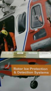 UTC Aerospace Displayed their Rotor Ice Protection System (RIPS)