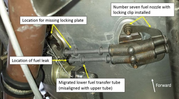 Missing Lockplate on  C208 VH-TYV (Credit: ATSB)