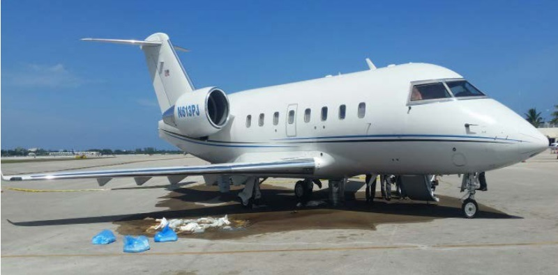 Canadair CL-600-2B16, Challenger N613PJ After the Accident and Fuel Leak  (Credit: via NTSB)
