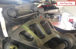 S-92A anti-flap stop secured to the main rotor hub (Credit: via ATSB)