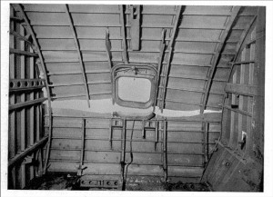 Comet G-ALYU Water Tank Test Failure at the Forward Escape Hatch (Credit: via FAA)