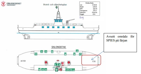 Ferry Christina Brahe Showing the Target Area (Credit: via SHK)