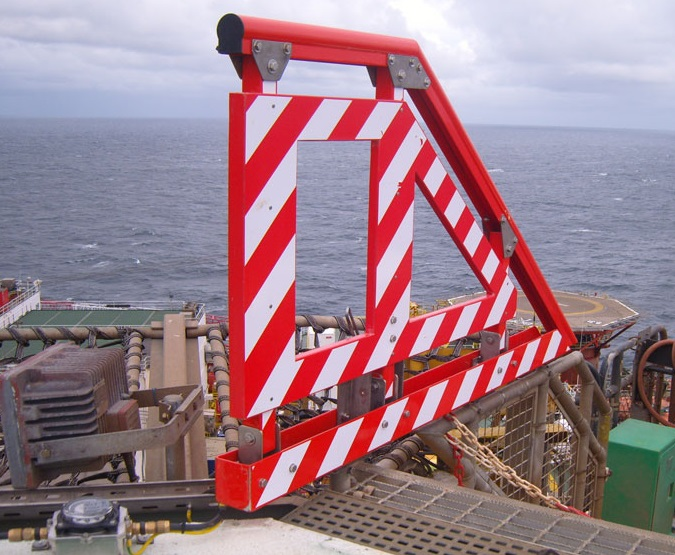 One Example of an Available GRP Hi-Viz Handrail (Credit: GRP Aberdeen)