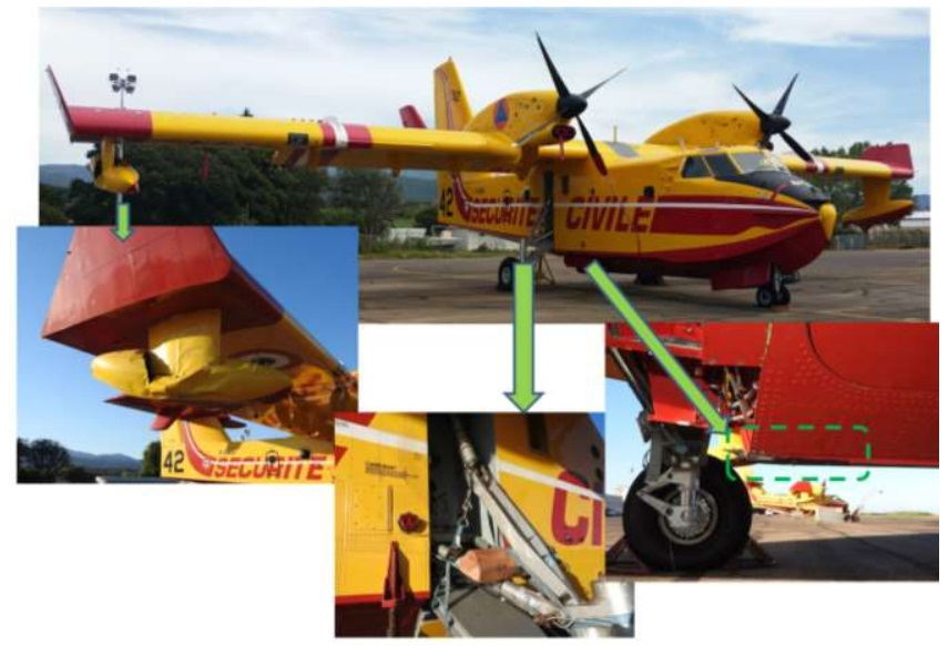 Damage to Securité Civile Canadair CL-415 F-ZBEU (Credit: BEA-D)