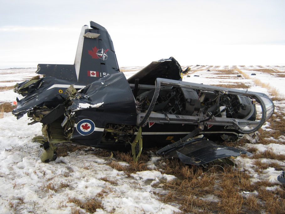 CT156 Harvard II (T-6 Texan II) CT156102 Main Wreckage Site (Credit: RCAF)