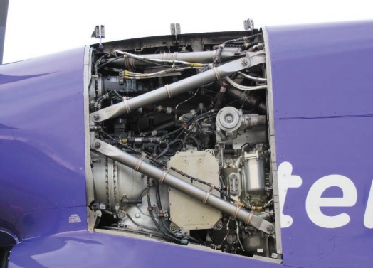 No 1 Outboard Engine Panel Missing from FlyBe DHC-8-402 Dash 8 (Q400), G-PRPC (Credit: AAIB)