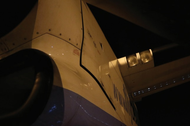 Panel gap resulting from an incorrectly latched panel viewed from the ground under similar lighting conditions to both incidents (Credit: AAIB)