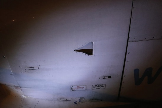 View of the panel gap following incorrect closure, from the perspective of the engineer conducting the task (Credit: AAIB)