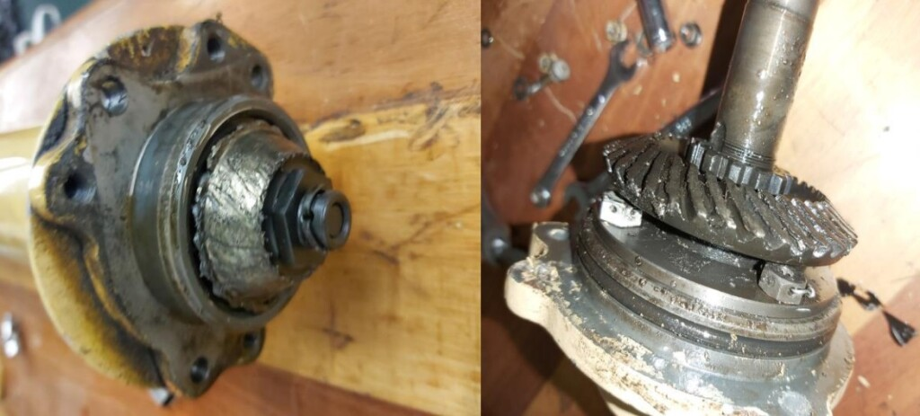 Worn TGB Gears Due to a lack of Lubrication - Westland-Bell 47G-3B-1 Sioux AH1 ZS-HGY (Credit: SACAA)