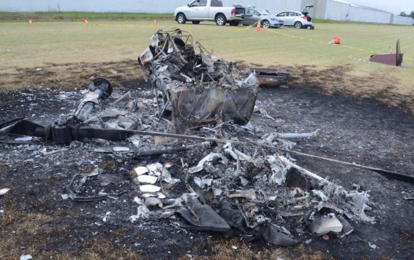 Wreckage of R44 II Raven N789MR (Credit: NTSB)