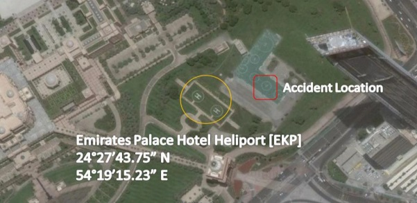 a6flp a109 abu dhabi accident location