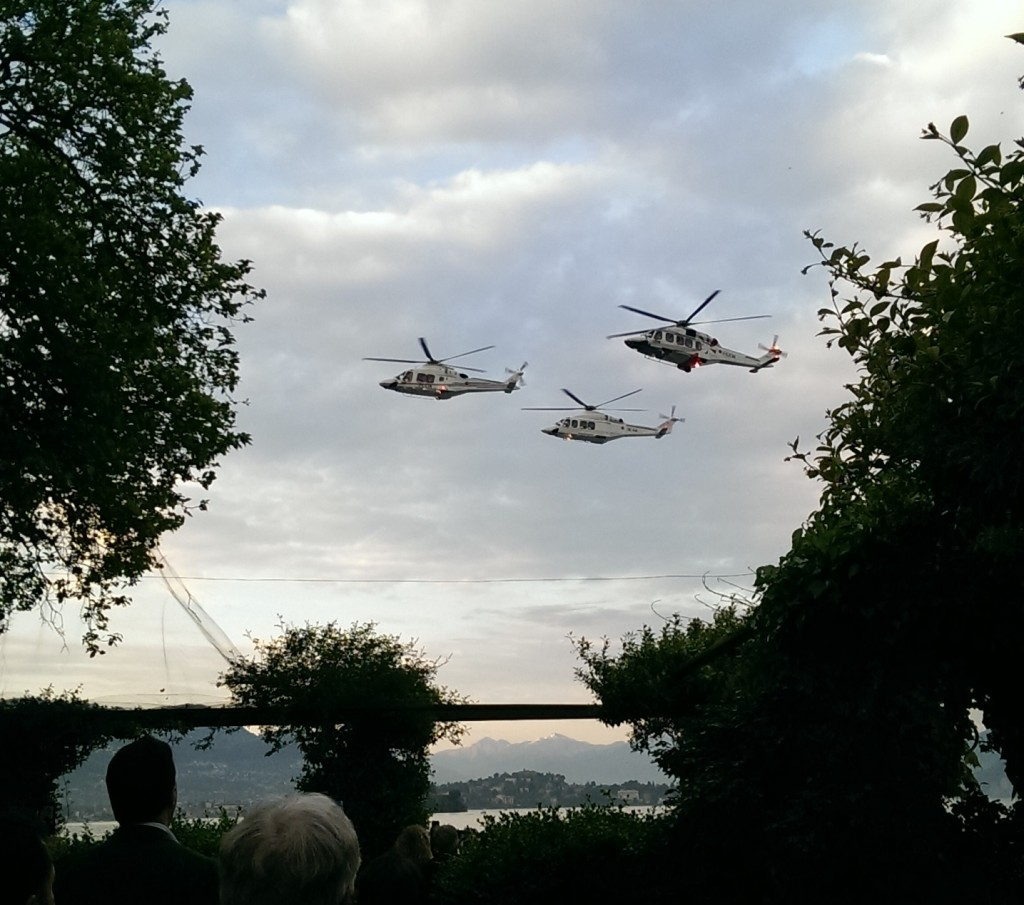 Leonardo AW169. AW139 and AW189 Fly-Past at the Start of the 4th HeliOffshore Conference (Credit: Aerossurance)